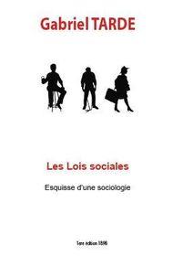 Les lois sociales Gabriel TARDE