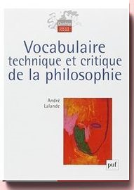 Vocabulaire technique et critique de la philosophie André Lalande